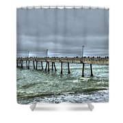 Pacifica Fishing Pier 7 V2 Shower Curtain