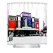 Pack Place Asheville In High Contrast Shower Curtain
