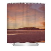 Pack River Delta Sunset  -  150125a-336 Shower Curtain