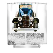 Packard Automobile - Vintage Poster Shower Curtain