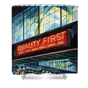 Packard Motor Car - Ask The Man Who Owns One - 1937 Shower Curtain
