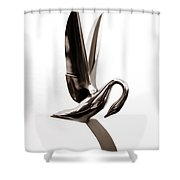 Packard Swan Hood Ornament 1 Shower Curtain