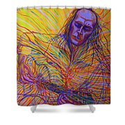 Paco De Lucia And Guardian Angel Shower Curtain