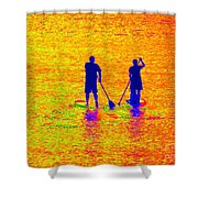Paddle Board Paradise Shower Curtain