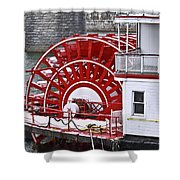 Paddle Wheel Shower Curtain by Tom and Pat Cory