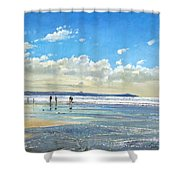 Paddling At The Edge Shower Curtain