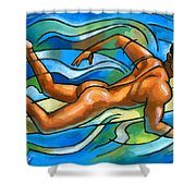 Paddling Shower Curtain