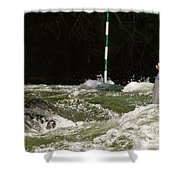 Paddling Hard Shower Curtain