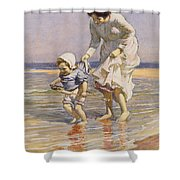 Paddling Shower Curtain by William Kay Blacklock