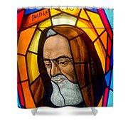 Padre Pio Shower Curtain