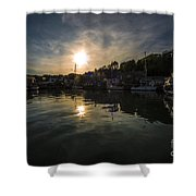 Padstow Dusk  Shower Curtain
