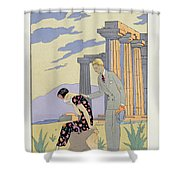 Paestum Shower Curtain by Georges Barbier