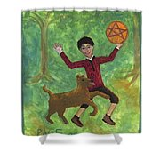Page Of Pentacles Shower Curtain
