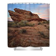 Page Sunrise Rock Shower Curtain