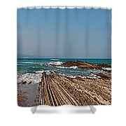 Pages Into The Sea No1 Shower Curtain