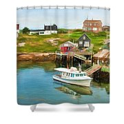 Peggy's Cove Boat Tours Shower Curtain