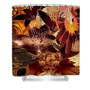 Pagoda Center Shower Curtain