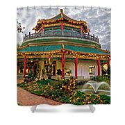 Pagoda In Norfolk Virginia Shower Curtain