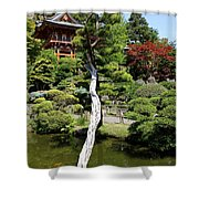 Pagoda On The Lake Shower Curtain