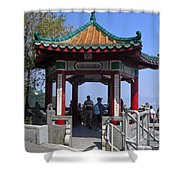 Pagoda Pavilion Shower Curtain