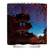 Pagoda Reflection Shower Curtain