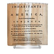 Paine: Common Sense, 1776 Shower Curtain by Granger