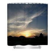 Paint Brush Sunset Shower Curtain