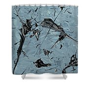 Paint Fossils Shower Curtain