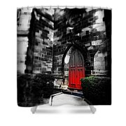 Paint It Black Shower Curtain