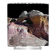 Paint Mines IIi-the Vertex Shower Curtain