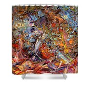 Paint Number 43a Shower Curtain by James W Johnson