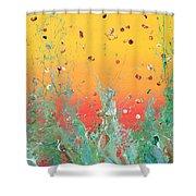 Paint Number Ninteen Diptych Shower Curtain