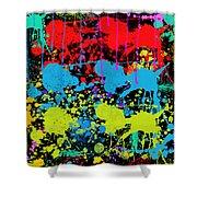 Paint Splatter - Black Shower Curtain