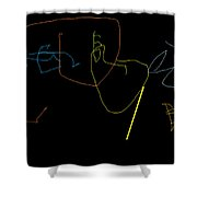 Paint To Music Shower Curtain