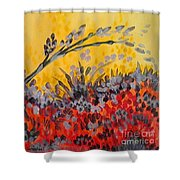 Paintbrush Astray Shower Curtain