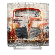 Painted 1940 Desoto Deluxe Shower Curtain