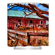 Painted Barn Shower Curtain