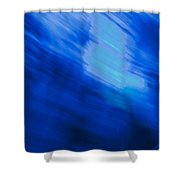 Painted Blue Shower Curtain