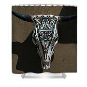 Painted Bonehead Shower Curtain