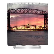 Painted Bridge Shower Curtain