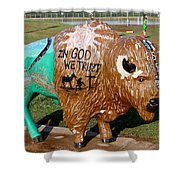 Painted Buffalo Shower Curtain