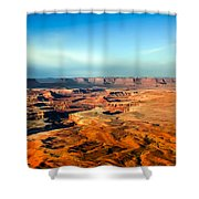Painted Canyonland Shower Curtain