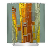 Painted City - Fantasy Cityscape Shower Curtain