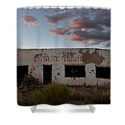 Painted Desert Trading Post At Sunset Shower Curtain