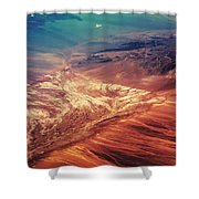 Painted Earth Shower Curtain by Jenny Rainbow