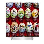 Painted Eggs In China Market Shower Curtain