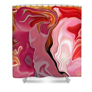 Painted Face's Shower Curtain