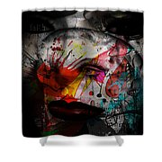 Painted Faces Success Races  Shower Curtain