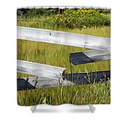 Painted Fence Shower Curtain