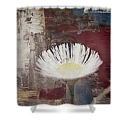 Painted Flower Shower Curtain
